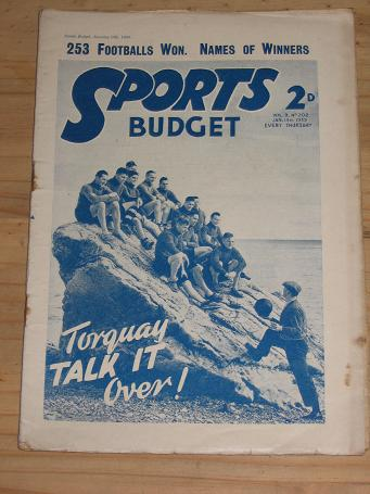 SPORTS BUDGET JANUARY 14 1939 MAGAZINE STORY PAPER FOR SALE FOOTBALL VINTAGE PUBLICATION PURE NOSTAL