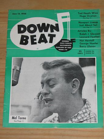 MEL TORME 1956 DOWN BEAT MAGAZINE JUNE 13 FOR SALE VINTAGE MUSIC PUBLICATION PURE NOSTALGIA ARCHIVES