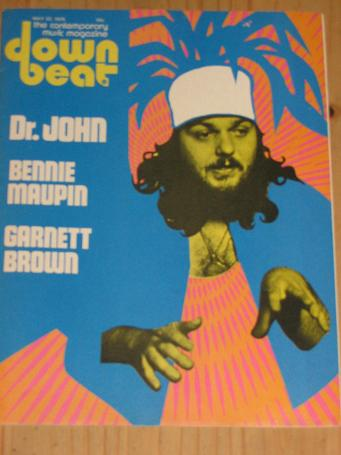 DR. JOHN DOWN BEAT 1975 MAGAZINE MAY 22 FOR SALE VINTAGE JAZZ MUSIC PUBLICATION PURE NOSTALGIA ARCHI