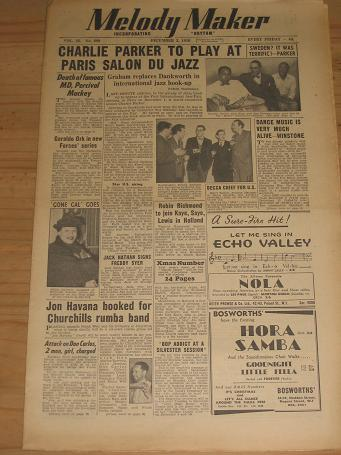 MELODY MAKER DECEMBER 2 1950 ISSUE FOR SALE VINTAGE POP JAZZ MUSIC PAPER PURE NOSTALGIA ARCHIVES CLA