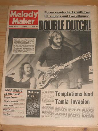 FOCUS MELODY MAKER 1973 FEBRUARY 10 ISSUE FOR SALE VINTAGE POP JAZZ MUSIC PAPER PURE NOSTALGIA ARCHI