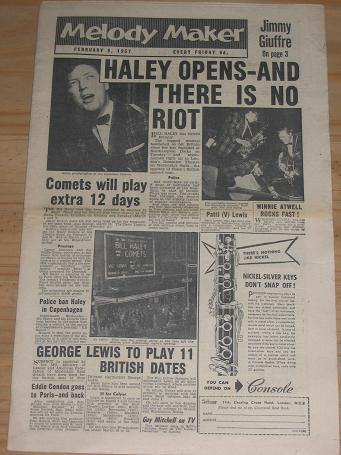 HALEY MELODY MAKER 1957 FEBRUARY 9 ISSUE FOR SALE VINTAGE POP JAZZ MUSIC PAPER PURE NOSTALGIA ARCHIV