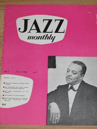 JAZZ MONTHLY MAGAZINE JULY 1959 BACK ISSUE FOR SALE VINTAGE MUSIC PUBLICATION PURE NOSTALGIA ARCHIVE