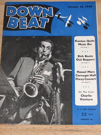 DOWN BEAT MAGAZINE JANUARY 14 1949 CHARLIE VENTURA BACK ISSUE FOR SALE VINTAGE JAZZ POPULAR MUSIC EN