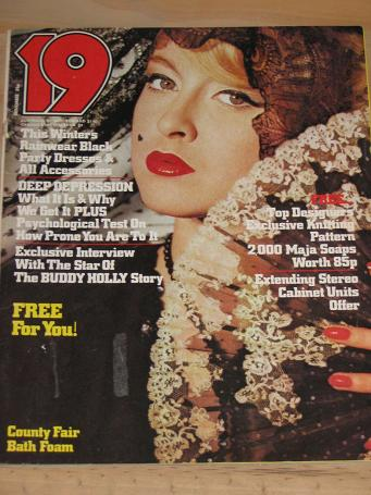 19 MAGAZINE NOVEMBER 1978 BACK ISSUE FOR SALE VINTAGE FASHION WOMENS PUBLICATION CLASSIC IMAGES OF T