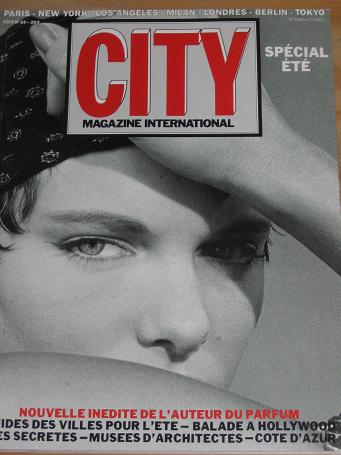 CITY MAGAZINE NUMBER 24 BACK ISSUE FRENCH EDITION FOR SALE 1986 VINTAGE PUBLICATION CLASSIC IMAGES O