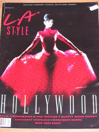 L.A. STYLE MAGAZINE DECEMBER 1991 BACK ISSUE FOR SALE HOLLYWOOD VINTAGE U.S. PUBLICATION CLASSIC IMA