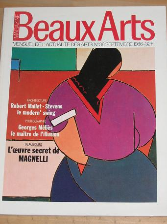 BEAUX ARTS MAGAZINE NUMBER 38 ISSUE FOR SALE 1986 VINTAGE PUBLICATION CLASSIC IMAGES OF THE TWENTIET