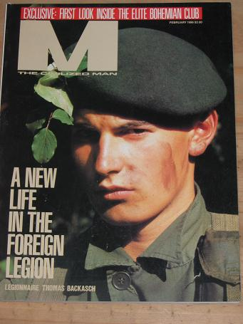 M MAGAZINE FEBRUARY 1986 ISSUE FOR SALE VINTAGE MENS PUBLICATION CLASSIC IMAGES OF THE TWENTIETH CEN