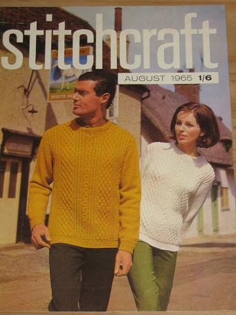 STITCHCRAFT MAGAZINE AUGUST 1965 ISSUE FOR SALE VINTAGE FASHION KNITTING EMBROIDERY DRESSMAKING RUGM