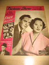 PICTURE SHOW MAGAZINE NOV 1 1952 RICHARD TODD MERLE OBERON VINTAGE FILM STAR MOVIE PUBLICATION FOR S