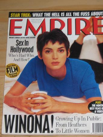 MARCH 1995 EMPIRE MOVIE MAGAZINE WINONA RYDER OLD VINTAGE FILM PUBLICATION FOR SALE PURE NOSTALGIA A