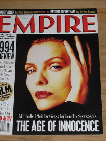 FEBRUARY 1994 EMPIRE MOVIE MAGAZINE MICHELLE PFEIFFER OLD VINTAGE FILM PUBLICATION FOR SALE PURE NOS