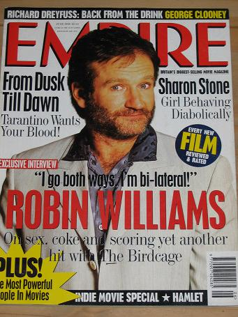 JUNE 1996 EMPIRE MOVIE MAGAZINE ROBIN WILLIAMS OLD VINTAGE FILM PUBLICATION FOR SALE PURE NOSTALGIA