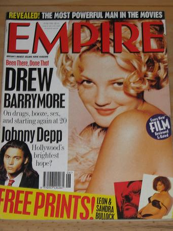 JUNE 1995 EMPIRE MOVIE MAGAZINE DREW BARRYMORE OLD VINTAGE FILM PUBLICATION FOR SALE PURE NOSTALGIA