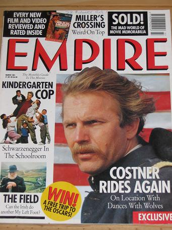 MARCH 1991 EMPIRE MOVIE MAGAZINE COSTNER OLD VINTAGE FILM PUBLICATION FOR SALE PURE NOSTALGIA ARCHIV
