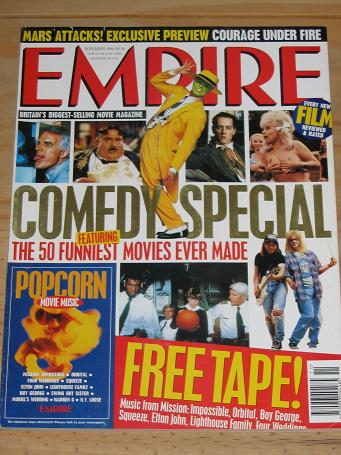 NOVEMBER 1996 EMPIRE MOVIE MAGAZINE COMEDY SPECIAL OLD VINTAGE FILM PUBLICATION FOR SALE PURE NOSTAL