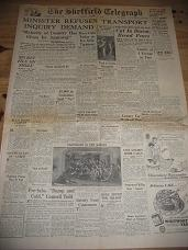 SHEFFIELD TELEGRAPH NEWSPAPER DEC 17 1946 FOR SALE HISTORIC PUBLICATION CLASSIC IMAGES OF THE TWENTI
