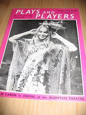 PLAYS AND PLAYERS FEB 1961 LESLIE CARON VINTAGE MOVIE MAGAZINE FOR SALE CLASSIC IMAGES OF THE 20TH C