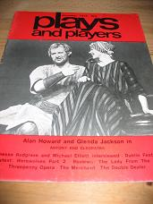 PLAYS AND PLAYERS DEC 1978 ALAN HOWARD GLENDA JACKSON VINTAGE MAGAZINE FOR SALE CLASSIC IMAGES OF TH