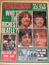 WEEKEND MAG AUG 30-SEP 5 1967 BEATLES VINTAGE PUBLICATION FOR SALE PURE NOSTALGIA ARCHIVES CLASSIC I