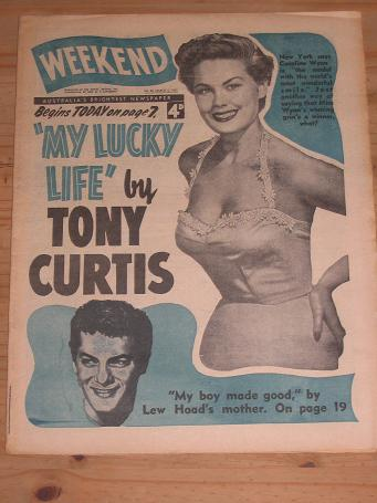 WEEKEND MARCH 5 1955 CAROLINE WYNN CURTIS VINTAGE AUSTRALIAN PUBLICATION FOR SALE CLASSIC IMAGES OF