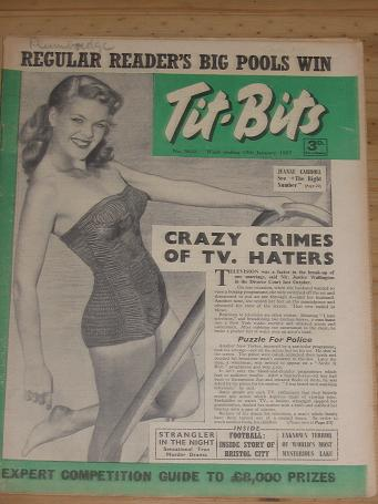 TITBITS MAG 15 JAN 1955 JEANNE CARROLL TITANIC CARTLAND PUBLICATION FOR SALE CLASSIC IMAGES OF THE 2