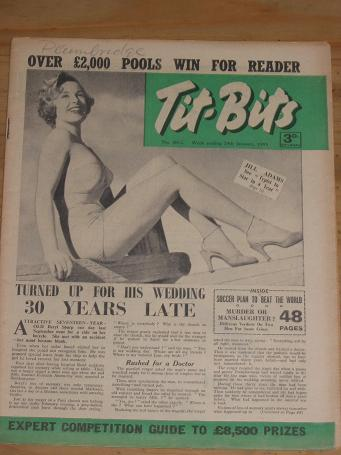 TITBITS MAG 29 JAN 1955 JILL ADAMS HOYS VINTAGE PUBLICATION FOR SALE CLASSIC IMAGES OF THE 20TH CENT