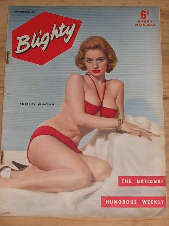 BLIGHTY MAG MARCH 30 1957 SHIRLEY WINTON PIN-UPS VINTAGE PUBLICATION FOR SALE CLASSIC IMAGES OF THE