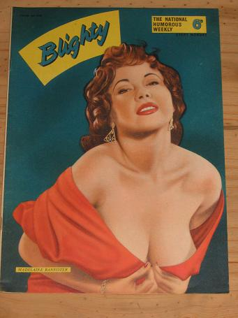 BLIGHTY MAG JUNE 4 1955 MADELAINE BANNISTER PIN-UPS VINTAGE PUBLICATION FOR SALE CLASSIC IMAGES OF T