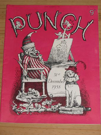 PUNCH MAG DEC 31 1958 HEWISON SPORTING PRINT VINTAGE PUBLICATION FOR SALE PURE NOSTALGIA ARCHIVES CL