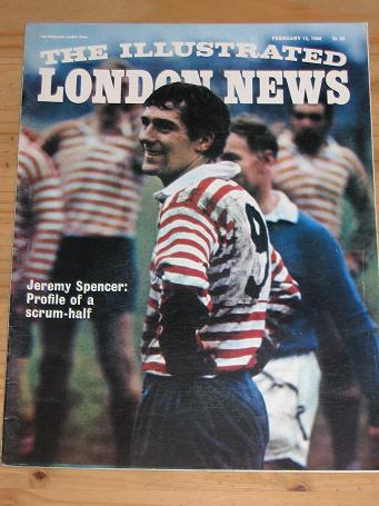 ILLUSTRATED LONDON NEWS FEB 12 1966 RUGBY SPENCER VINTAGE PUBLICATION FOR SALE PURE NOSTALGIA ARCHI