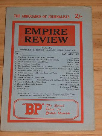 EMPIRE REVIEW JAN 1927 VINTAGE PUBLICATION FOR SALE PURE NOSTALGIA ARCHIVES CLASSIC IMAGES OF THE T