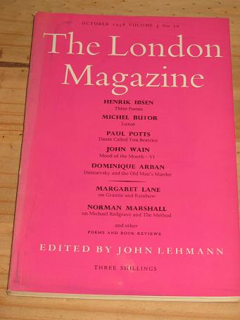 LONDON MAG OCT 1958 IBSEN WAIN POTTS LANE VINTAGE LITERARY PUBLICATION FOR SALE PURE NOSTALGIA ARCH