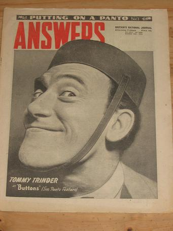 ANSWERS MAG DEC 18 1948 TOMMY TRINDER VINTAGE PUBLICATION FOR SALE CLASSIC IMAGES OF THE 20TH CENTUR