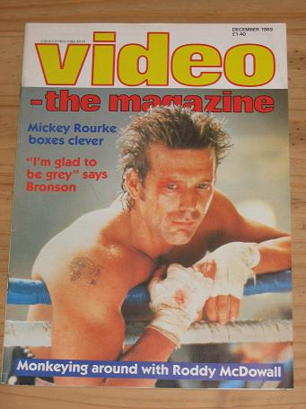 VIDEO MAG DEC 1989 MICKEY ROURKE BRONSON VINTAGE PUBLICATION FOR SALE PURE NOSTALGIA ARCHIVES CLASSI