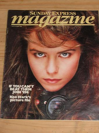 KOO STARK SUNDAY EXPRESS MAG 1 SEP 1985 VINTAGE PUBLICATION FOR SALE CLASSIC IMAGES OF THE 20TH CENT