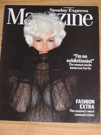 JAMIE LEE CURTIS SUNDAY EXPRESS MAG 3 NOV 1991 VINTAGE PUBLICATION FOR SALE CLASSIC IMAGES OF THE 20
