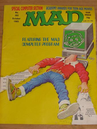 ISSUE NUMBER 282 MAD MAGAZINE FOR SALE VINTAGE ALTERNATIVE HUMOUR PUBLICATION CLASSIC IMAGES OF THE