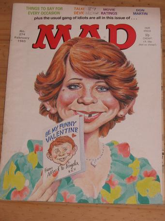 ISSUE NUMBER 274 MAD MAGAZINE FOR SALE VINTAGE ALTERNATIVE HUMOUR PUBLICATION CLASSIC IMAGES OF THE