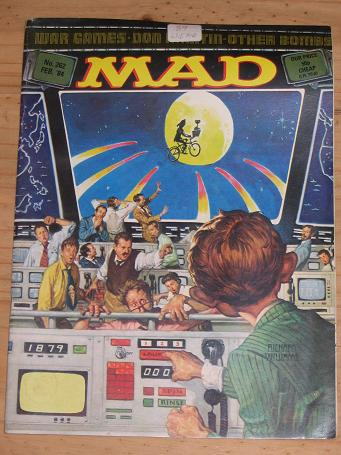 ISSUE NUMBER 262 MAD MAGAZINE FOR SALE VINTAGE ALTERNATIVE HUMOUR PUBLICATION CLASSIC IMAGES OF THE