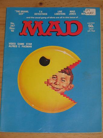 ISSUE NUMBER 247 MAD MAGAZINE FOR SALE VINTAGE ALTERNATIVE HUMOUR PUBLICATION CLASSIC IMAGES OF THE