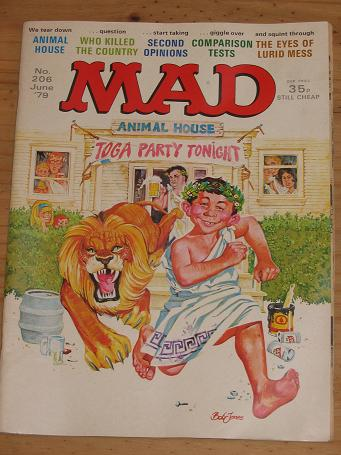 ISSUE NUMBER 206 MAD MAGAZINE FOR SALE VINTAGE ALTERNATIVE HUMOUR PUBLICATION CLASSIC IMAGES OF THE
