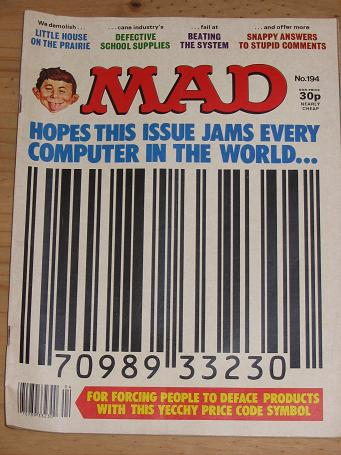 ISSUE NUMBER 194 MAD MAGAZINE FOR SALE VINTAGE ALTERNATIVE HUMOUR PUBLICATION CLASSIC IMAGES OF THE