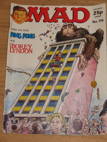ISSUE NUMBER 176 MAD MAGAZINE FOR SALE VINTAGE ALTERNATIVE HUMOUR PUBLICATION CLASSIC IMAGES OF THE