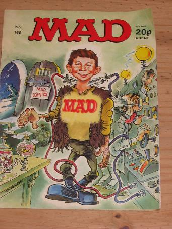 ISSUE NUMBER 169 MAD MAGAZINE FOR SALE VINTAGE ALTERNATIVE HUMOUR PUBLICATION CLASSIC IMAGES OF THE