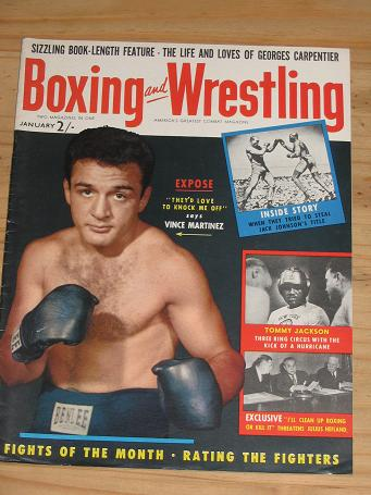 BOXING WRESTLING MAG JAN 1956 VOL 4 NO 3 VINTAGE FIGHT PUBLICATION FOR SALE CLASSIC IMAGES OF THE T