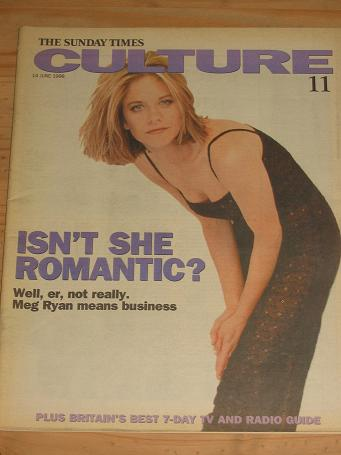 MEG RYAN CULTURE MAG 14 JUNE 1998 VINTAGE PUBLICATION FOR SALE CLASSIC IMAGES OF THE 20TH CENTURY PU