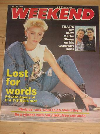 LESLIE ASH MAY 28 1988 WEEKEND MAG KENSIT SHEEN MR T VINTAGE PUBLICATION FOR SALE CLASSIC IMAGES OF