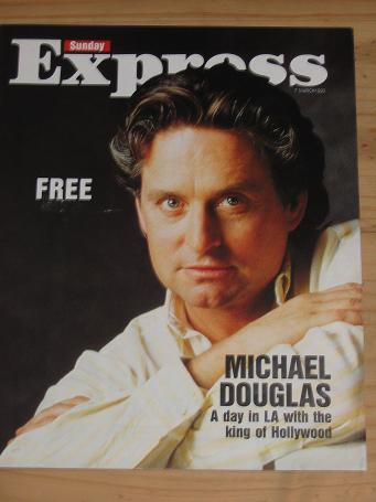 MICHAEL DOUGLAS 1993 SUNDAY EXPRESS MAG 7 MARCH VINTAGE PUBLICATION FOR SALE CLASSIC IMAGES OF THE 2